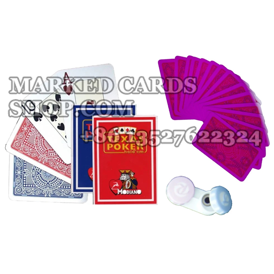 marked cards for infrared contact lenses